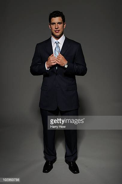 Sidney Crosby of the Pittsburgh Penguins poses for a portrait during the 2010 NHL Awards at the Palms Casino Resort on June 23 2010 in Las Vegas...