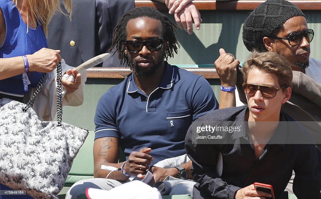 Sidney Govou attends day 12 of the French Open 2015 at Roland Garros stadium on June 4, 2015 in Paris, France.
