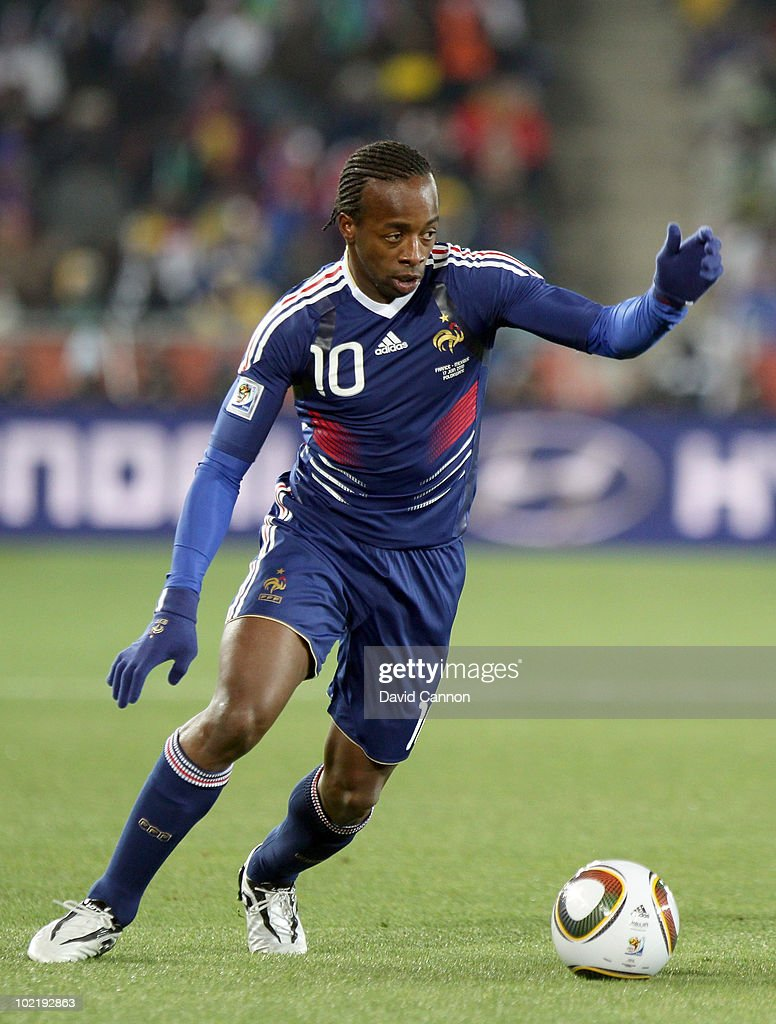 Sidney Govou of France during the 2010 FIFA World Cup South Africa Group A match between France and Mexico at the Peter Mokaba Stadium on June 17, 2010 in Polokwane, South Africa.