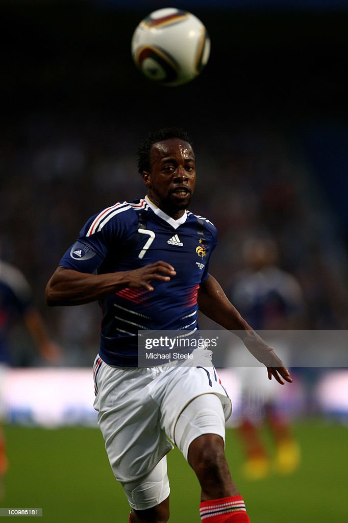 <a gi-track='captionPersonalityLinkClicked' href=/galleries/search?phrase=Sidney+Govou&family=editorial&specificpeople=242983 ng-click='$event.stopPropagation()'>Sidney Govou</a> of France during the France v Costa Rica International Friendly match at Stade Felix Bollaert on May 26, 2010 in Lens, France.
