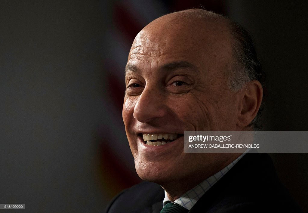 Sidney Levy, CEO of the Rio 2016 Olympic and Paralympic Organizing Committee attends a discussion about the upcoming Olympic games in Washington, DC on June 28, 2016. / AFP / ANDREW