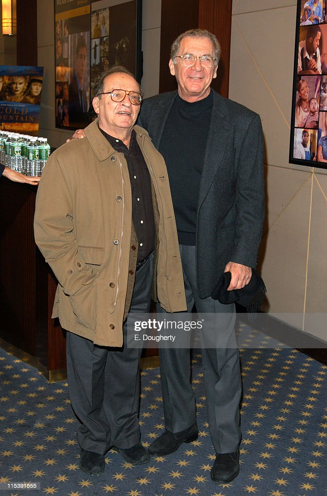 Sidney Lumet and Sydney Pollack during Sydney Pollack Hosts a Private Screening of 'Cold Mountain' in New York at MGM Room in New York City New York...