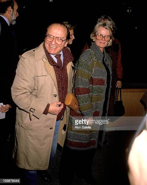 Sidney Lumet and Wife Mary Gimble during 'Hamlet' New York Premiere December 11 1990 at Museum of Modern Art in New York City New York United States