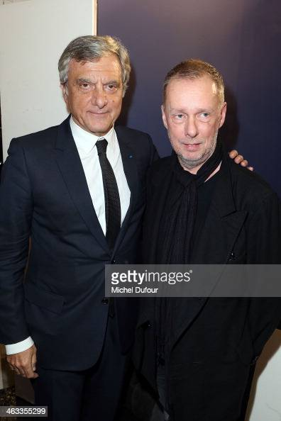 Sidney Toledano and Bill Gaytten attend the John Galliano Menswear Fall/Winter 20142015 Show as part of Paris Fashion Week on January 17 2014 in...
