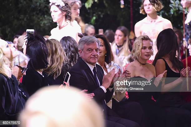 Sidney Toledano and Diane Kruger attend the Christian Dior Haute Couture Spring Summer 2017 show as part of Paris Fashion Week at Musee Rodin on...