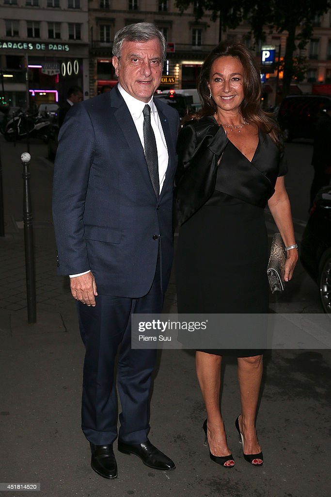 <a gi-track='captionPersonalityLinkClicked' href=/galleries/search?phrase=Sidney+Toledano&family=editorial&specificpeople=758670 ng-click='$event.stopPropagation()'>Sidney Toledano</a> and <a gi-track='captionPersonalityLinkClicked' href=/galleries/search?phrase=Katia+Toledano&family=editorial&specificpeople=758669 ng-click='$event.stopPropagation()'>Katia Toledano</a> arrives at a 'Dior' dinner on July 7, 2014 in Paris, France.