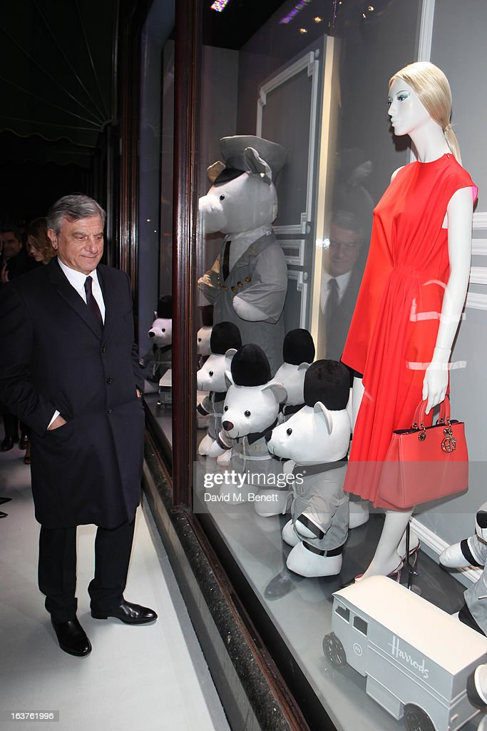 Sidney Toledano (President & CEO, Christian Dior Couture) arrives to launch Dior at Harrods on March 14, 2013 in London, England.