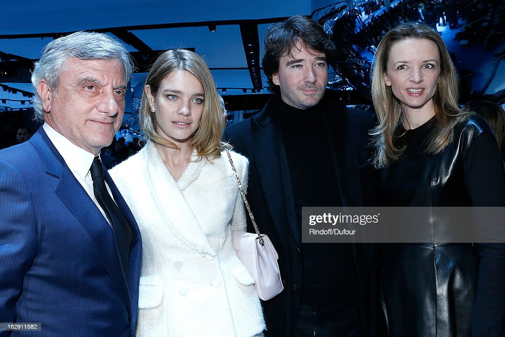 Sidney Toledano, Christian Dior Couture President and CEO, Natalia Vodianova, Antoine Arnault and Delphine Arnault attend the Christian Dior Fall/Winter 2013 Ready-to-Wear show as part of Paris Fashion Week on March 1, 2013 in Paris, France.