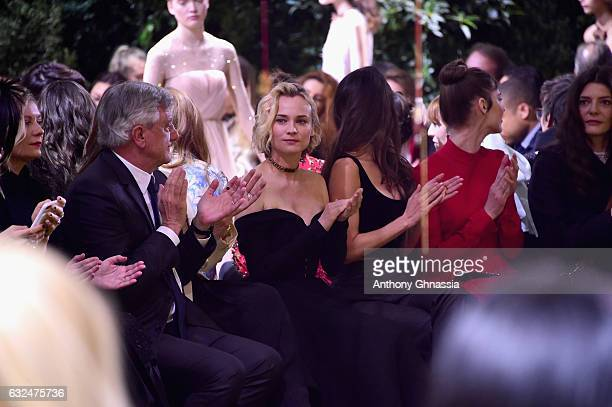 Sidney Toledano Diane Kruger Charlotte Le Bon Louise Bourgoin and Chiara Mastroianni attend the Christian Dior Haute Couture Spring Summer 2017 show...