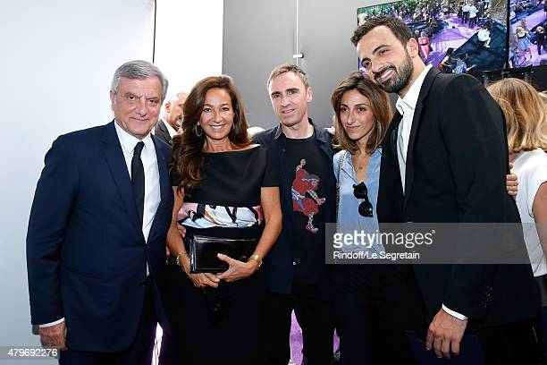 CEO DIOR Sidney Toledano his wife Katia Toledano Fashion Designer Raf Simons Children of Sidney Toledano Julia Toledano and her brother Alan Toledano...