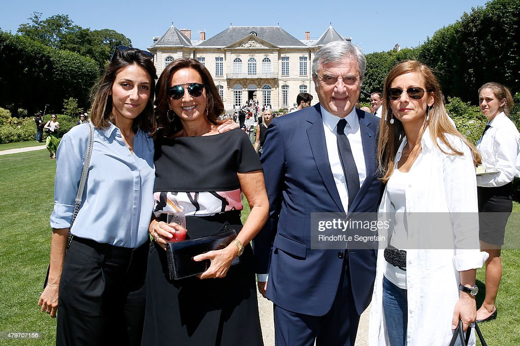DIOR, Sidney Toledano (2nd R), his wife Katia Toledano (2nd L), his daughter Julia Toledano and Miss Manuel valls, Violonist Anne Gravoin attend the Christian Dior show as part of Paris Fashion Week Haute-Couture Fall/Winter 2015/2016 on July 6, 2015 in Paris, France.