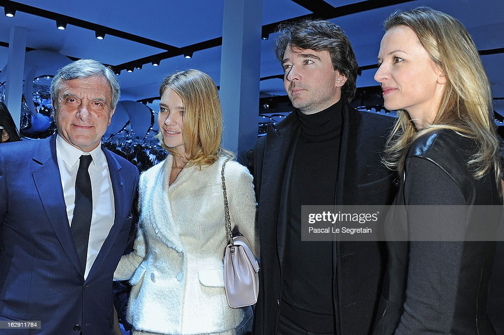Sidney Toledano, Natalia Vodianova, Antoine Arnault and Delphine Arnault attend the Christian Dior Fall/Winter 2013 Ready-to-Wear show as part of Paris Fashion Week on March 1, 2013 in Paris, France.
