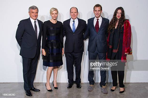 Sidney Toledano Princess Charlene of Monaco Prince Albert II of Monaco Andrea Casiraghi and Tatiana Santo Domingo attend the Dior Cruise Collection...