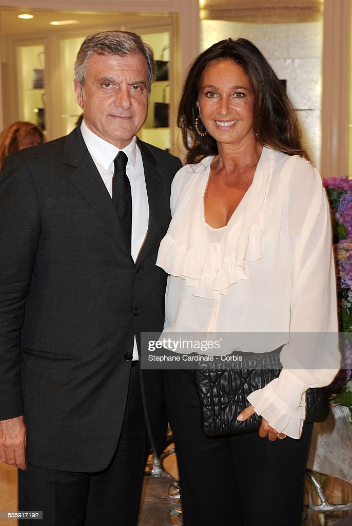 Sidney Toledano with Wife Katia attend the Vogue Fashion Celebration Night at Christian Dior in Paris.