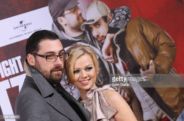 Sido and Doreen Steinert attend the 'Blutzbruedaz' premiere at CineStar Sony Center on December 14 2011 in Berlin Germany