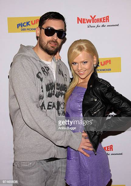 Sido and his girlfriend Doreen Steinert arrives to the 'The Dome' music event on March 5 2010 in Berlin Germany