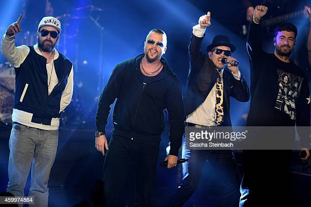 Sido Kollegah Jan Delay and Marteria perform during the 1Live Krone 2014 at Jahrhunderthalle on December 4 2014 in Bochum Germany