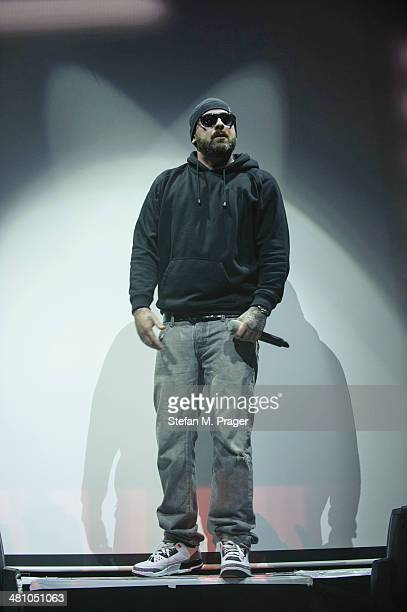 Sido performs on stage at Olympiahalle on March 27 2014 in Munich Germany