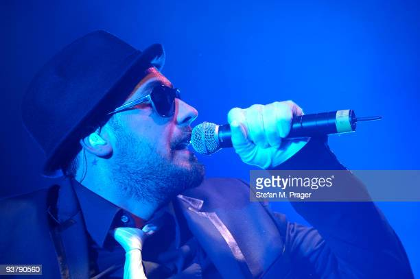 Sido performs on stage at Tonhalle on December 3 2009 in Munich Germany