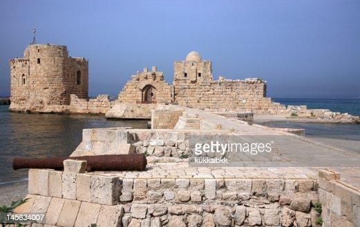 Sidon sea castle,sidon,lebanon