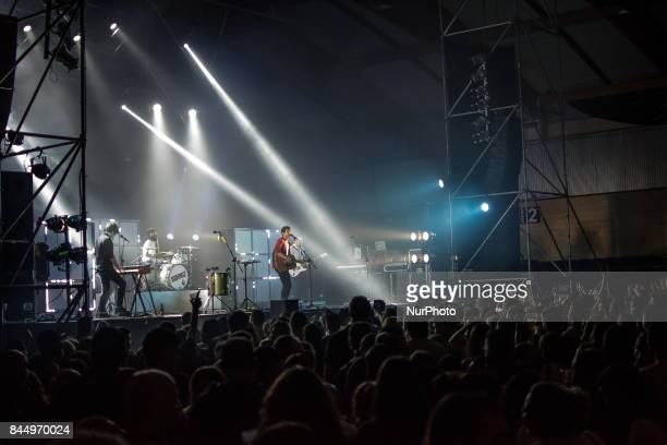Sidonie performs on stage during Ebrovision Music Festival on September 1 2017 in Miranda de Ebro Spain