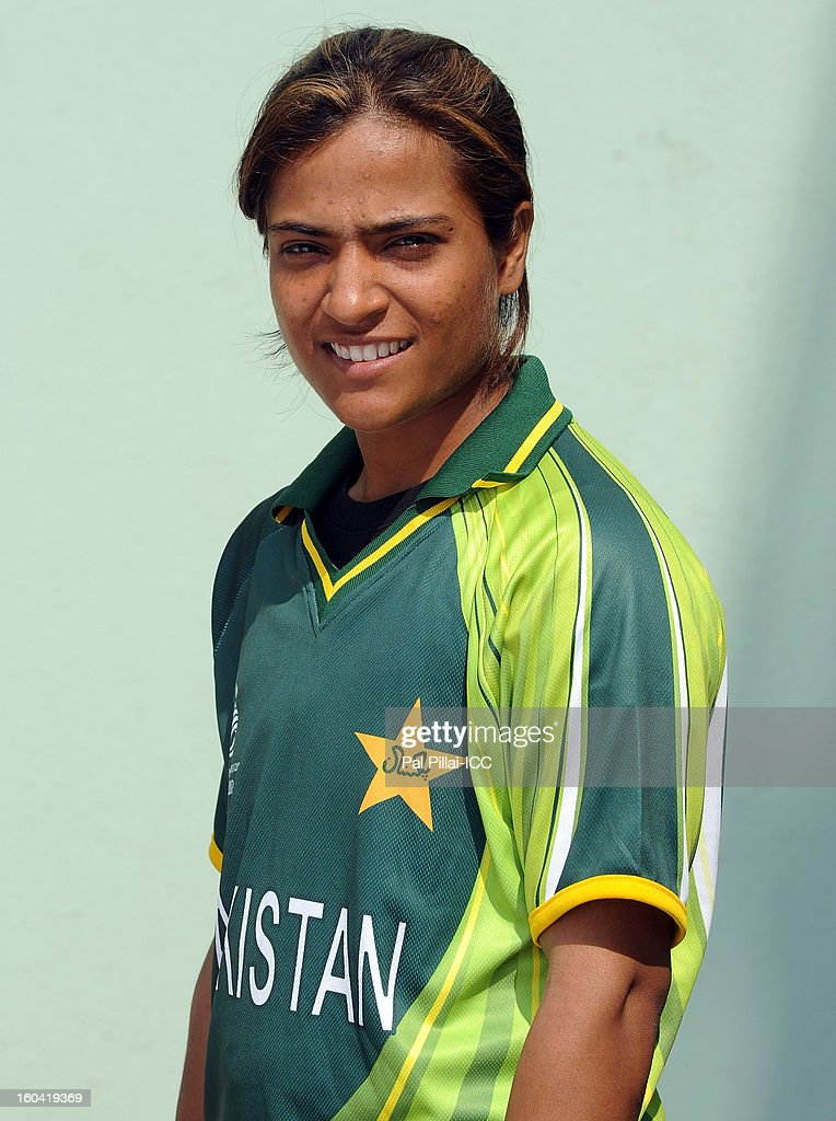 Sidra Amin of Pakistan attends a portrait session ahead of the ICC Womens World Cup 2013 at the Barabati stadium on January 31, 2013 in Cuttack, India.