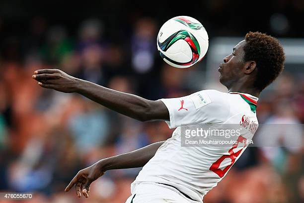 Sidy Sarr of Senegal in action during the FIFA U20 World Cup New Zealand 2015 Group C match between Senegal and Qatar held at Waikato Stadium on June...