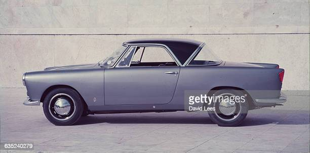 Sie view of the Lancia Appia Farina Coupe designed by the Italian Pininfarina