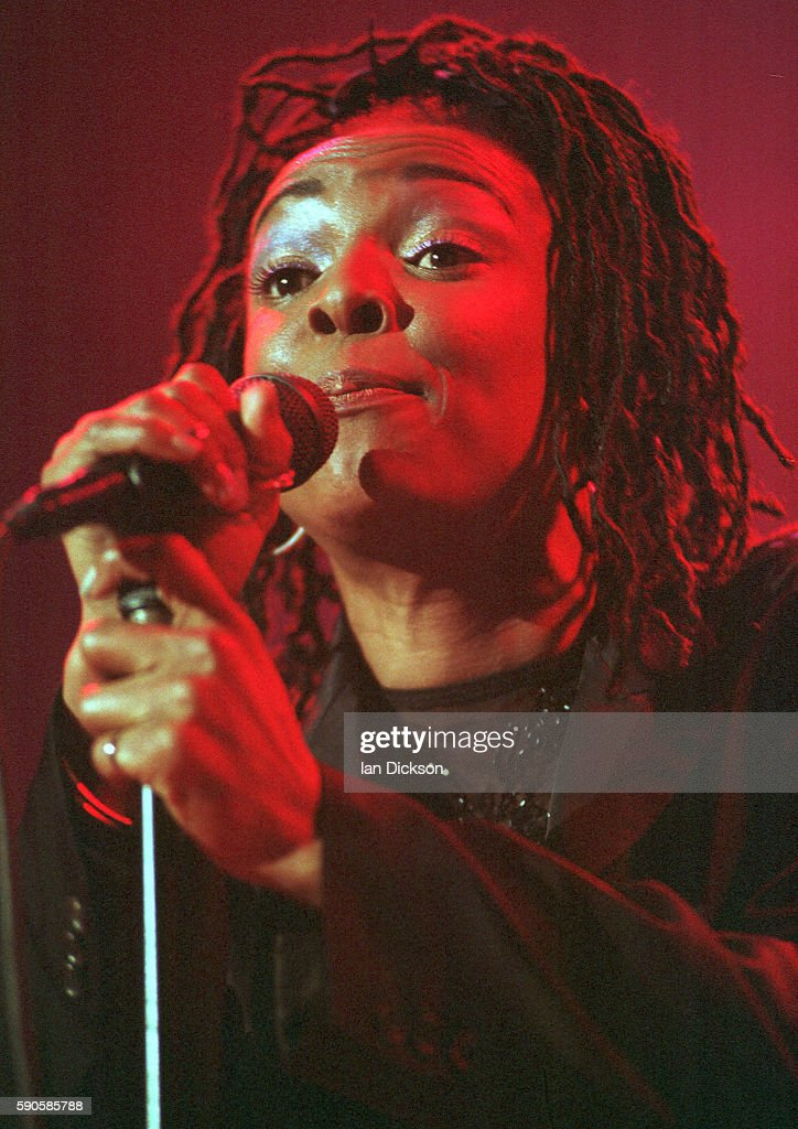 Siedah Garrett of Brand New Heavies performing on stage at The Forum Kentish Town London 15 May 1997