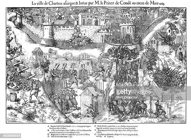 Siege of Chartres French Religious Wars 1568 Sappers working to undermine a bastion forming part of the city's defences The Huguenots commanded by...