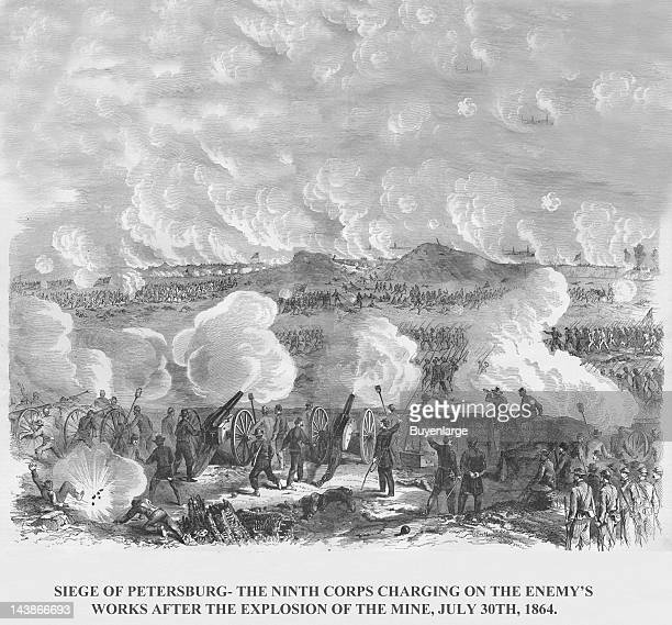 Siege of Petersburg after the Mine Explosion Petersburg Virginia July 30 1864 From an issue of Frank Leslie's Illustrated Almanac