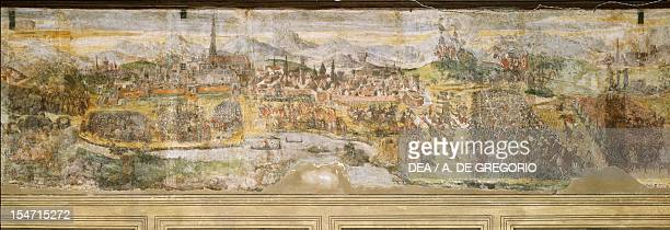 Siege of Vienna in 1529 ca 1548 by Marcello Fogolino fresco Palazzo Lantieri Gorizia FriuliVenezia Giulia Italy 16th century