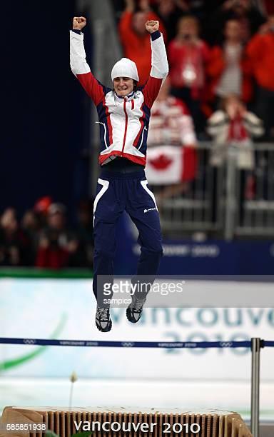 Martina Sablikova gewinnt Gold Olympische Winterspiele 2010 in Vancouver Eisschnelllaufen 3000m Damen Speed Skating 3000m Ladies