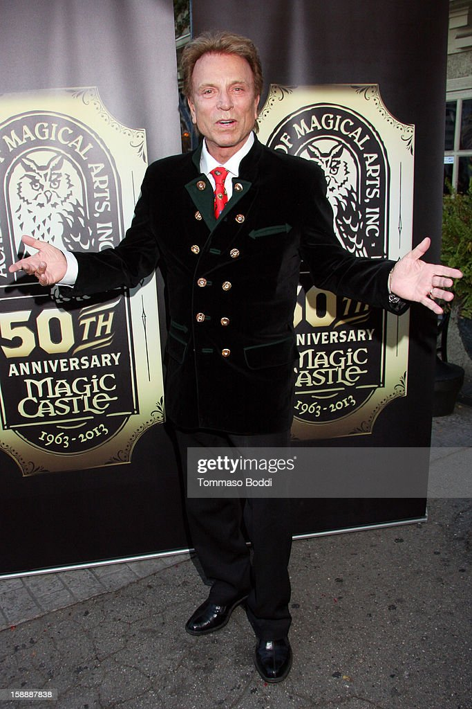 Siegfried Fischbacher attends the Academy of Magical Arts & The Magic Castle 50th anniversary gala held at The Magic Castle on January 2, 2013 in Hollywood, California.