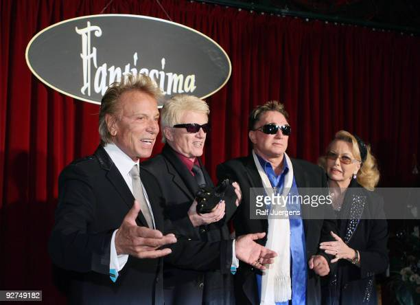 Siegfried Heino Roy and Hannelore attend the Fantissima Show at Phantasialand on November 4 2009 in Bruhl Germany