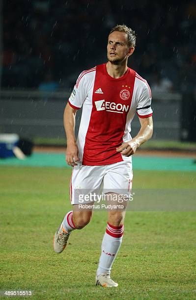 Siem De Jong of AFC Ajax in action during the international friendly match between Perija Jakarta and AFC Ajax on May 11 2014 in Jakarta Indonesia...