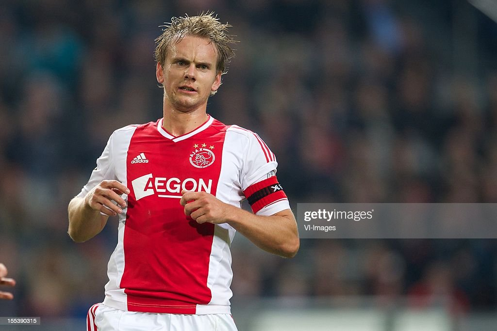 Siem de Jong of Ajax during the Dutch Eredivisie match between Ajax Amsterdam and Vitesse Arnhem at the Amsterdam Arena on November 3, 2012 in Amsterdam, The Netherlands.