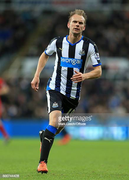 Siem de Jong of Newcastle in action during the Barclays Premier League match between Newcastle United and Liverpool at St James' Park on December 6...