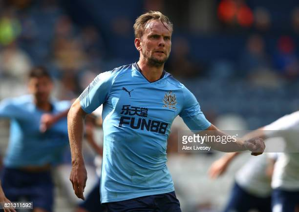 Siem De Jong of Newcastle United during a preseason friendly match between Preston North End and Newcastle United at Deepdale on July 22 2017 in...