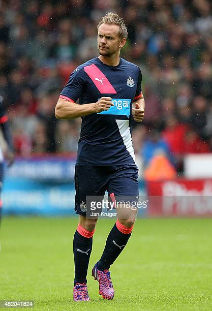 Siem de Jong of Newcastle United during the pre season friendly match between Sheffield United and Newcastle United at Bramall Lane on July 26 2015...