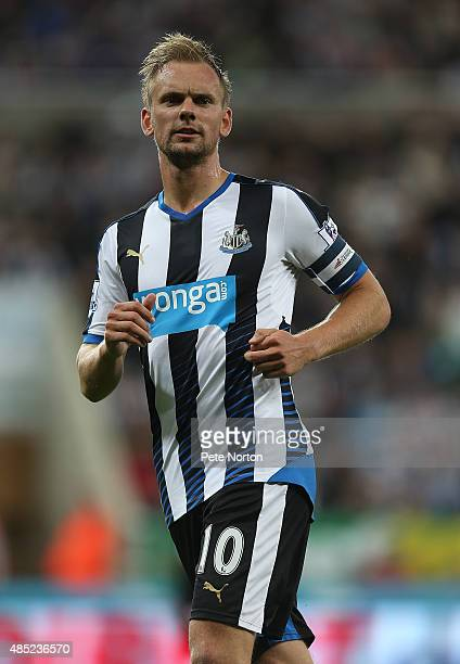 Siem De Jong of Newcastle United in action during the Capital One Cup Second Round between Newcastle United and Northampton Town at St James' Park on...