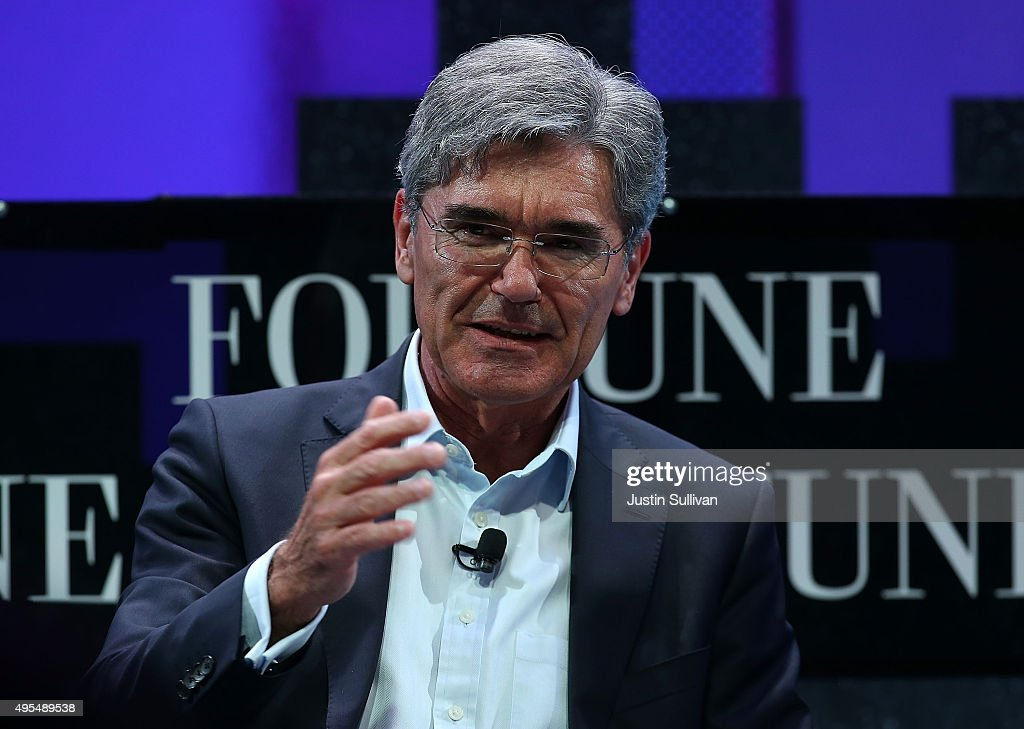 Siemens AG president and CEO <a gi-track='captionPersonalityLinkClicked' href=/galleries/search?phrase=Joe+Kaeser&family=editorial&specificpeople=558326 ng-click='$event.stopPropagation()'>Joe Kaeser</a> speaks during the Fortune Global Forum on November 3, 2015 in San Francisco, California. Business leaders are attending the Fortune Global Forum that runs through November 4.