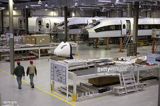 GERMANY KREFELD Siemens AG Transportation Systems Our picture shows the assembly hangar of Siemens Transportation Systems Krefeld with the high speed...