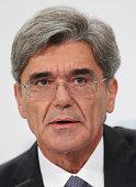 Siemens CEO Joe Kaeser speaks at the Siemens annual press conference on November 6 2014 in Berlin Germany Siemens announced that it had fulfilled its...