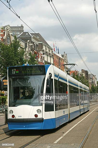 Siemens made Combino tram runs in Amsterdam The Netherlands Friday July 24 2004 Siemens AG Germany's biggest engineering company may report a 10...