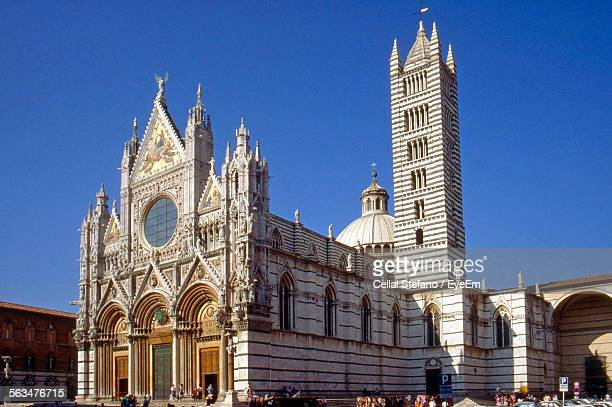 Siena Cathedral Against Clear Blue Sky