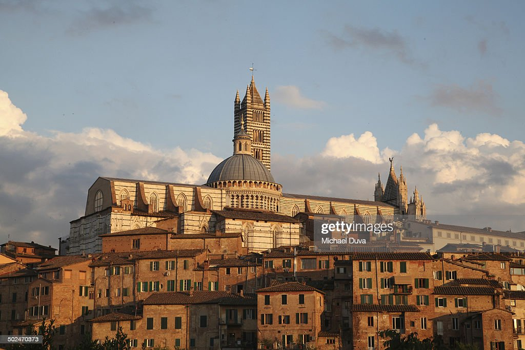 Siena Duomo Cathedral Church from down the hill