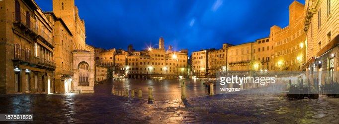 siena marekt place in night - italy -tuscany