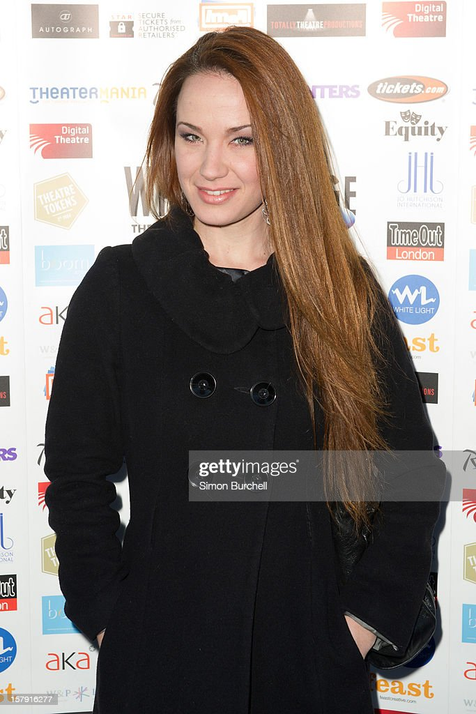 Sienna Boggess attends the Whatsonstage.com Theare Awards nominations launch at Cafe de Paris on December 7, 2012 in London, England.