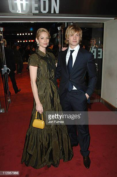 Sienna Guillory and Edward Speleer during 'Eragon' London Premiere Arrivals at Odeon Leichester Square in London Great Britain